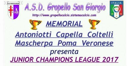 Junior Champions League 2017: programma PULCINI 2006